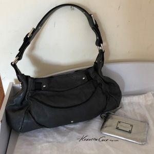 Kenneth Cole NY leather shoulder bag and wallet